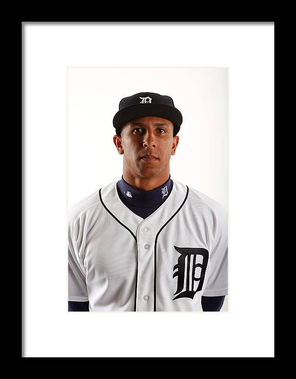 Media Day Framed Print featuring the photograph Detroit Tigers Photo Day by Brian Blanco