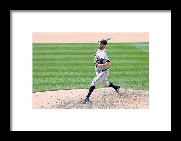 Ninth Inning Framed Print featuring the photograph Detroit Tigers V Colorado Rockies by Dustin Bradford