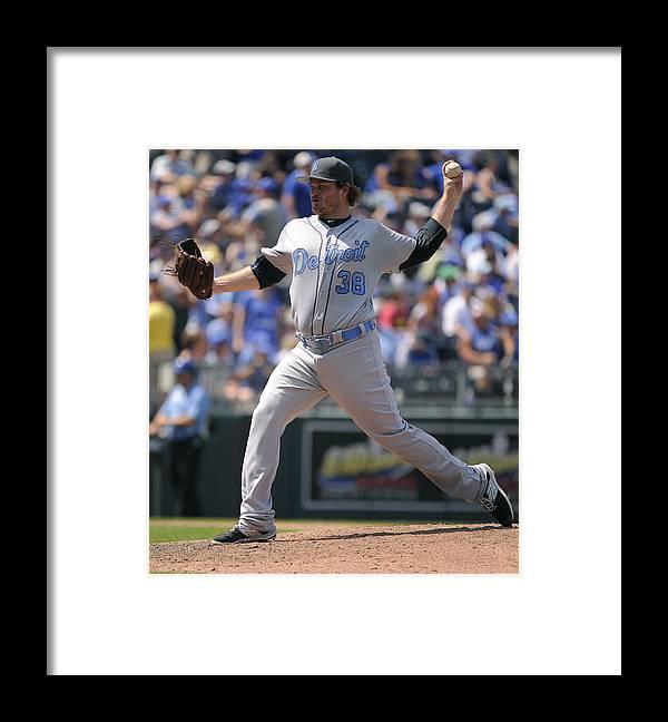 Ninth Inning Framed Print featuring the photograph Detroit Tigers v Kansas City Royals by Ed Zurga
