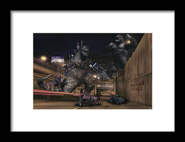 King Kong Framed Print featuring the photograph Detroits Zoo by Nicholas Grunas