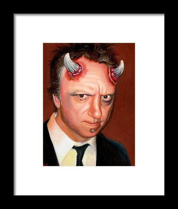 Halloween Framed Print featuring the painting Devil Sean by Kit Clock