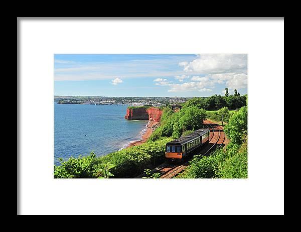 Passenger Train Framed Print featuring the photograph Devon Train by Maxian