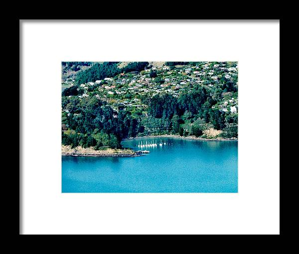 Banks Peninsula Framed Print featuring the photograph Diamond Harbour by Steve Taylor
