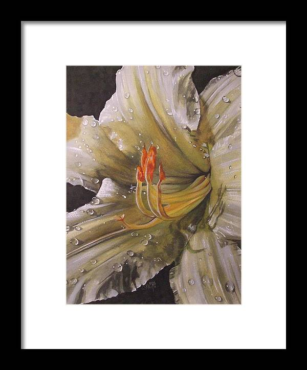 Daylily Framed Print featuring the painting Diamonds by Barbara Keith