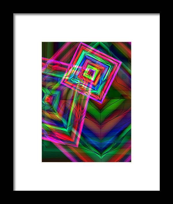 Shapes Framed Print featuring the digital art Diamonds by David Karapetjan