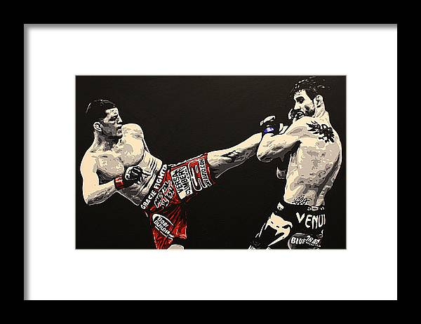 Mma Framed Print featuring the painting Diaz V Condit by Geo Thomson