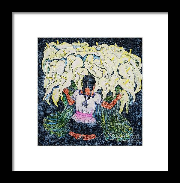 Calla Lily Framed Print featuring the painting Diego's Calla by Victoria Page