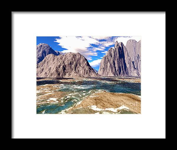 Digital Art Framed Print featuring the photograph Digital Art 1 by Alan Russo