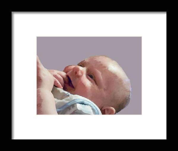 Baby Framed Print featuring the digital art Digital Baby by Chad Milburn