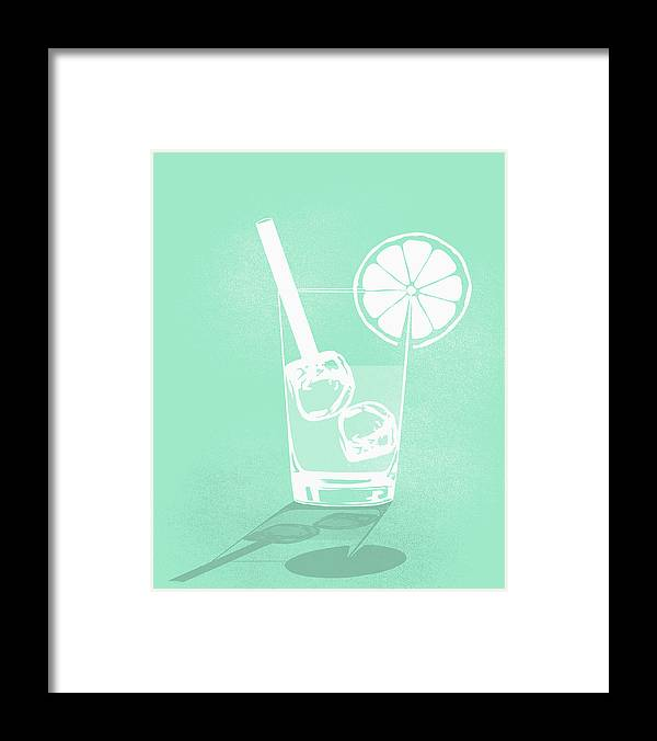 Shadow Framed Print featuring the digital art Digital Composite Image Of Cold Drink by Malte Mueller
