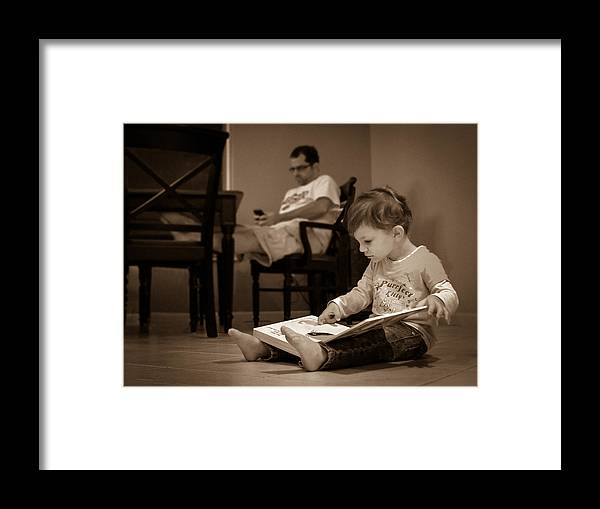 Child Framed Print featuring the photograph Digital Divide by Bill Pevlor