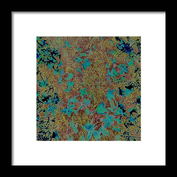 Abstract Framed Print featuring the photograph Digital Fall by CML Brown
