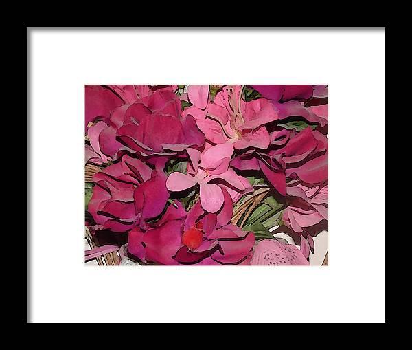 Roses Framed Print featuring the digital art Digital Roses by Chad Milburn