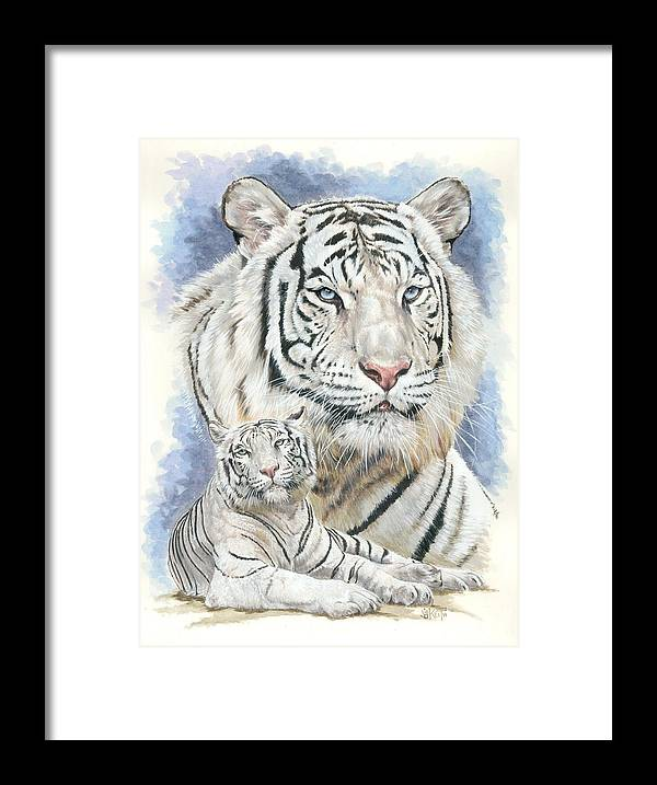 Big Cat Framed Print featuring the mixed media Dignity by Barbara Keith