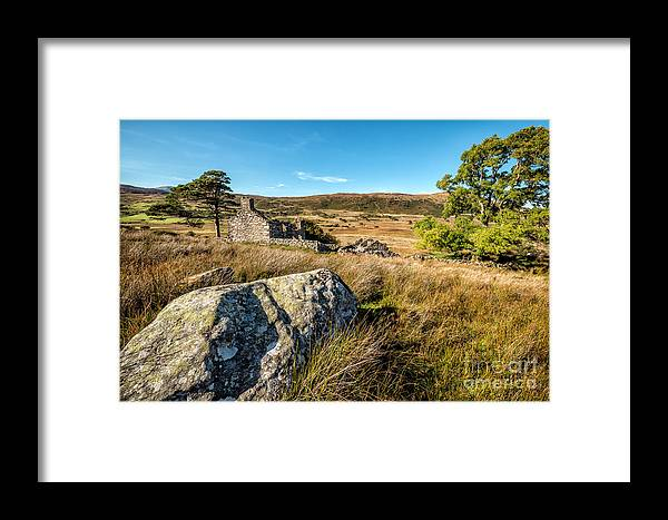 Snowdonia Framed Print featuring the photograph Dilapidated Farmhouse by Adrian Evans