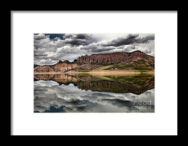 Curecanti Framed Print featuring the photograph Dillon Reflections by Adam Jewell