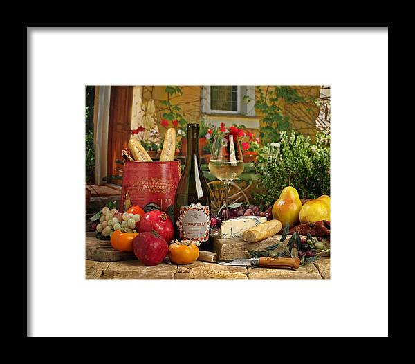 Wine Framed Print featuring the photograph Dimetria Viognier by Mel Felix