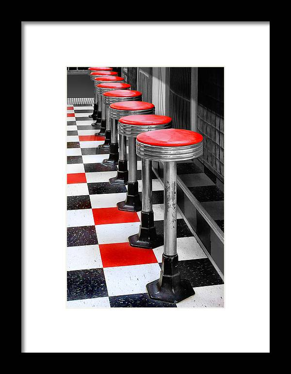 Diners Framed Print featuring the photograph Diner #2 by Nikolyn McDonald