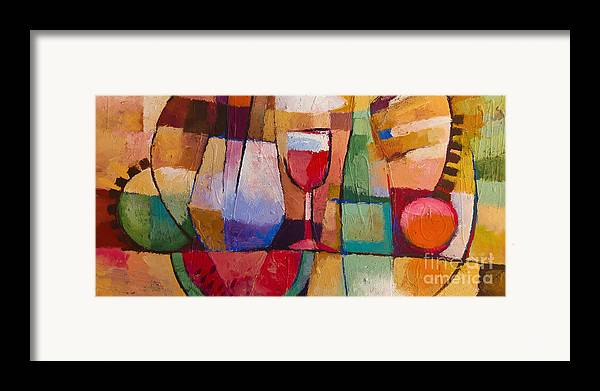 Still Life Framed Print featuring the painting Dining by Lutz Baar