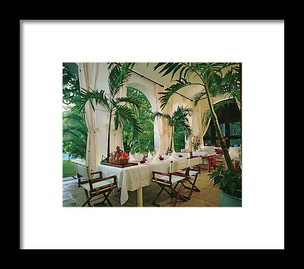 No People Framed Print featuring the photograph Dining Room With Place Setting by Durston Saylor