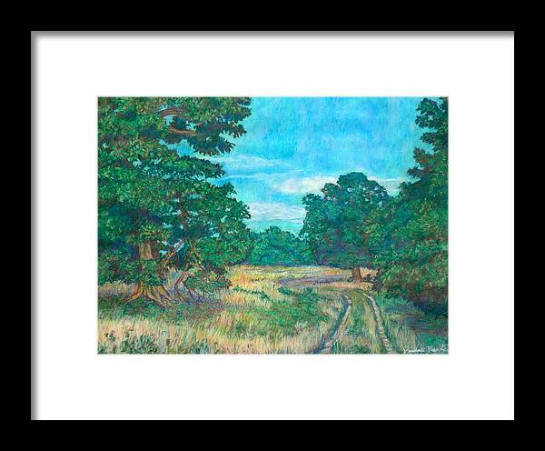 Landscape Framed Print featuring the painting Dirt Road Near Rock Castle Gorge by Kendall Kessler