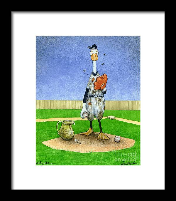 Will Bullas Framed Print featuring the painting Dirty Pitchers... by Will Bullas