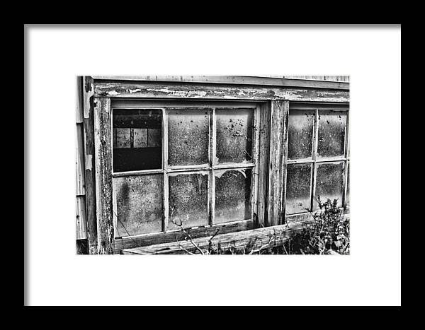 Dirty Windows Framed Print featuring the photograph Dirty Windows by Ron Roberts