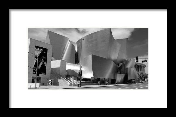 Cityscape Framed Print featuring the photograph Disney Hall by Jim McCullaugh