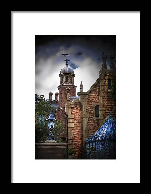 Disney Framed Print featuring the photograph Disney's Haunted Mansion by Mark Andrew Thomas