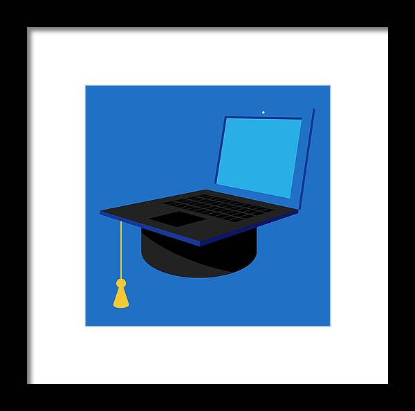 Academic Framed Print featuring the photograph Distance Learning University Education by Ikon Images