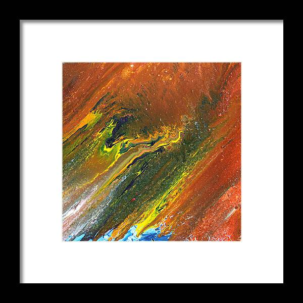 Fusionart Framed Print featuring the painting Distance by Ralph White