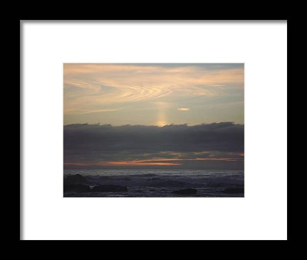 Framed Print featuring the photograph Distant Cloud Swirl by Randy Esson