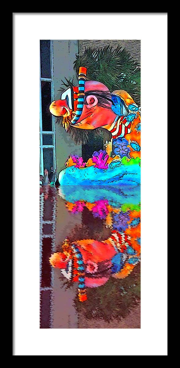 Digital Art Framed Print featuring the photograph Diver's Reflection by Marian Bell