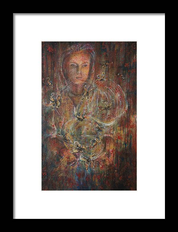 Divination Framed Print featuring the painting Divination by Nik Helbig