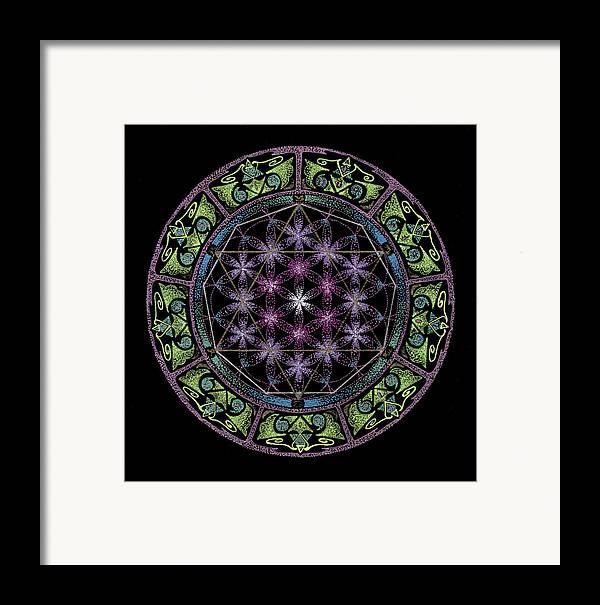 Divine Feminine Energy Framed Print featuring the painting Divine Feminine Energy by Keiko Katsuta