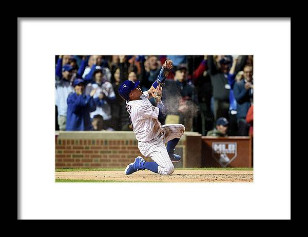 Second Inning Framed Print featuring the photograph Division Series - San Francisco Giants by Stacy Revere