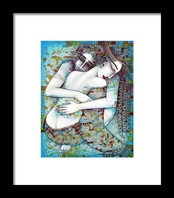 Love Framed Print featuring the painting Do Not Leave Me by Albena Vatcheva