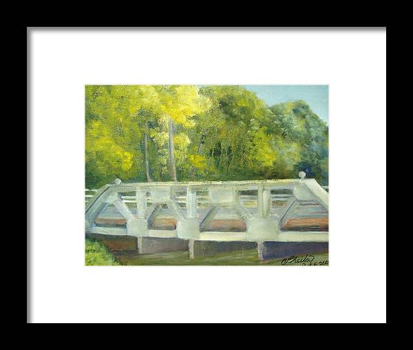 Smithville Park Framed Print featuring the painting Do You Paint Fish? by Sheila Mashaw