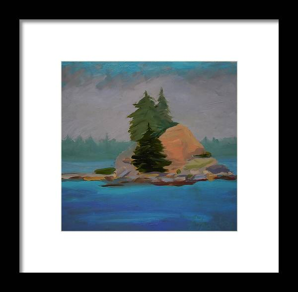 Maine Framed Print featuring the painting Pork Of Junk by Francine Frank
