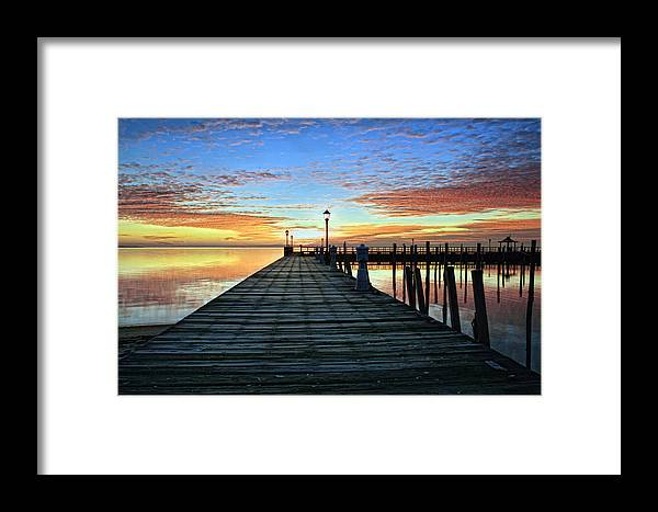 Dock Framed Print featuring the photograph Dock A The Bay by J Charles