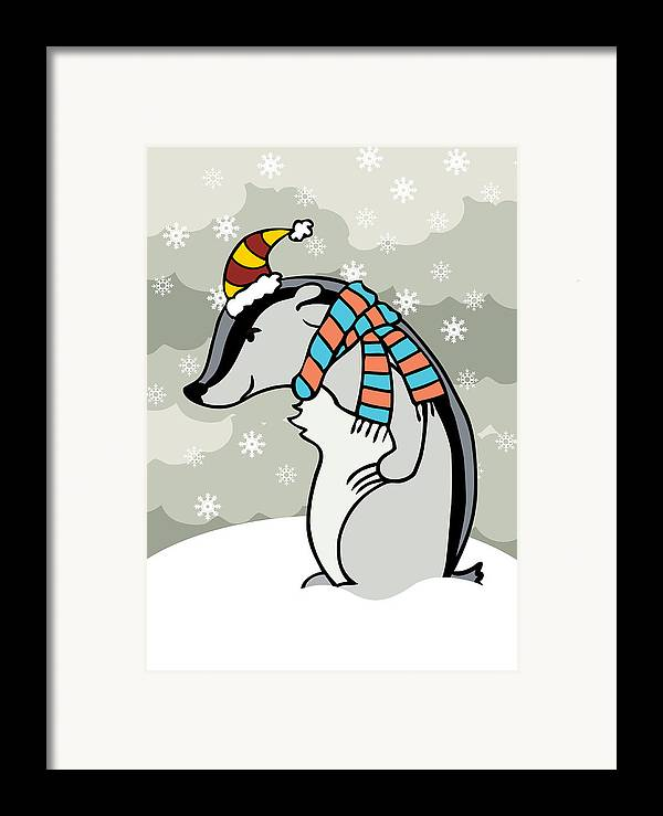 Winter Framed Print featuring the digital art Doctor Derby Winter by Christy Beckwith