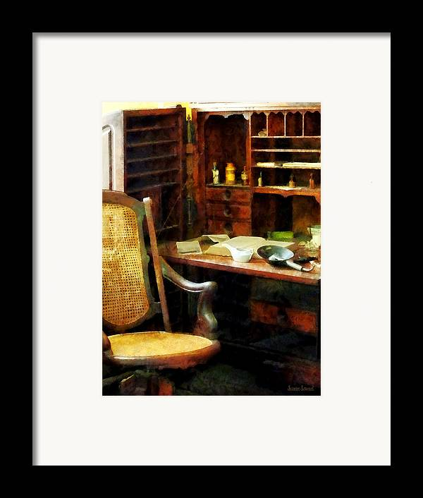 Druggist Framed Print featuring the photograph Doctor - Doctor's Office by Susan Savad