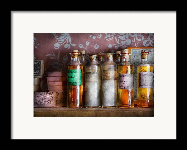 Suburbanscenes Framed Print featuring the photograph Doctor - Perfume - Soap And Cologne by Mike Savad