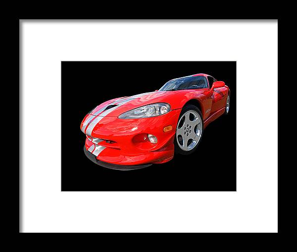 Dodge Viper Framed Print featuring the photograph Dodge Viper Gts by Gill Billington