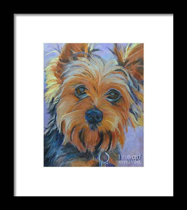 Pet Framed Print featuring the painting Dog Days of Summer 2 by Stephanie Allison