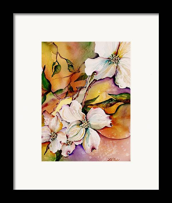 Dogwoods Framed Print featuring the painting Dogwood In Spring Colors by Lil Taylor