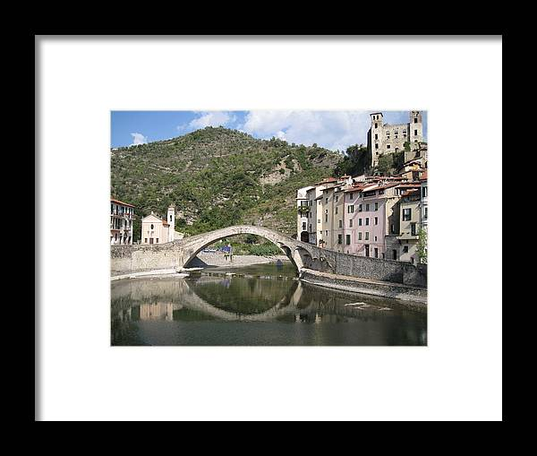 Italy Framed Print featuring the photograph Dolceacqua Italy by Terence Nunn