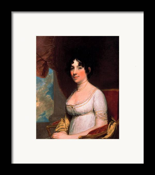 Gilbert Stuart Framed Print featuring the painting Dolley Payne Madison by Gilbert Stuart