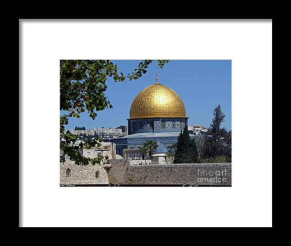 Dome Framed Print featuring the photograph Dome Of The Rock by Arik Baltinester