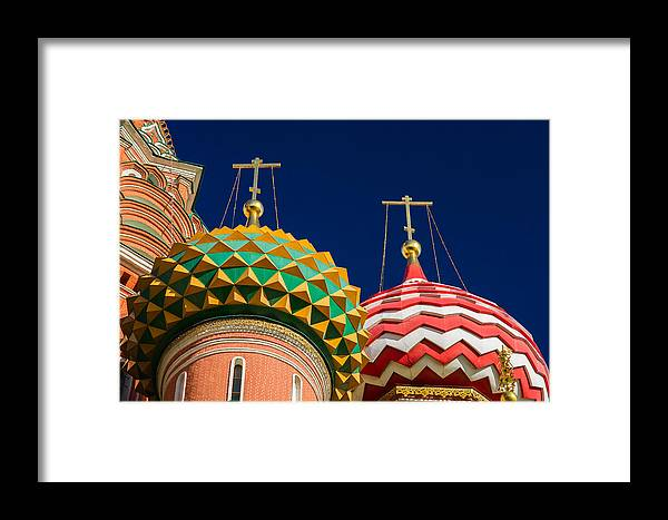 World Framed Print featuring the photograph Domes Of Vasily The Blessed Cathedral - Feature 3 by Alexander Senin